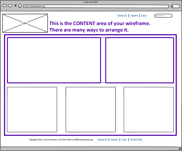 Nonprofit Website Wireframes - Content